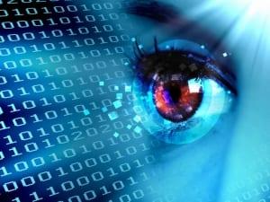 Symbolbild: Auge betrachtet Daten