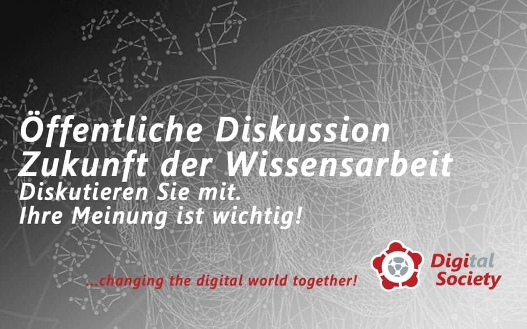 """Diskussion Papier """"Zukunft der Wissensarbeit"""" verlängert bis 11.12.2019"""