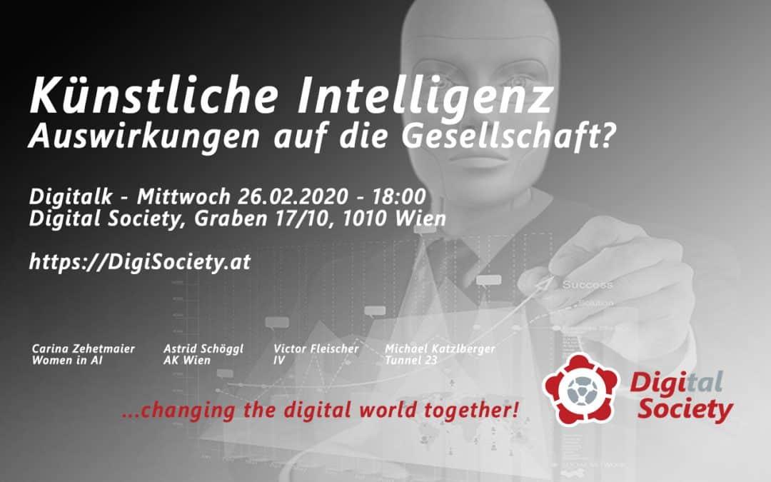 """Nachlese Digitalk """"Welche Auswirkung hat künstliche Intelligenz auf die Gesellschaft?"""""""