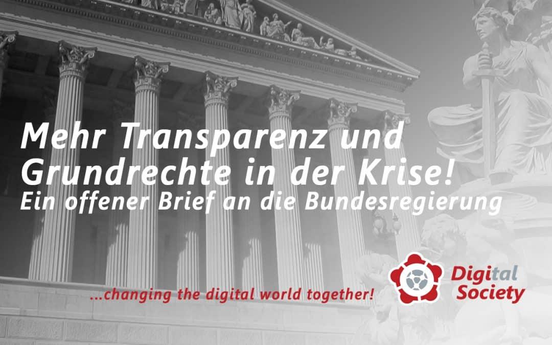 Mehr Transparenz und Grundrechte in Zeiten der Krise!