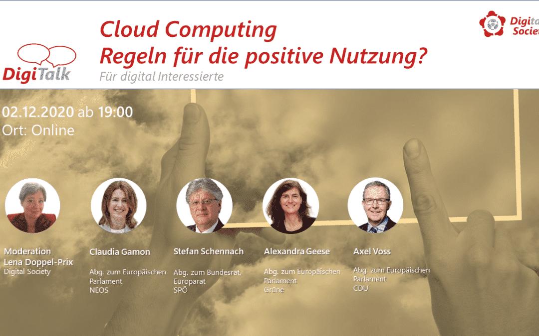 """Nachlese DigiTalk """"Cloud Computing – Regeln für die positive Nutzung?"""""""