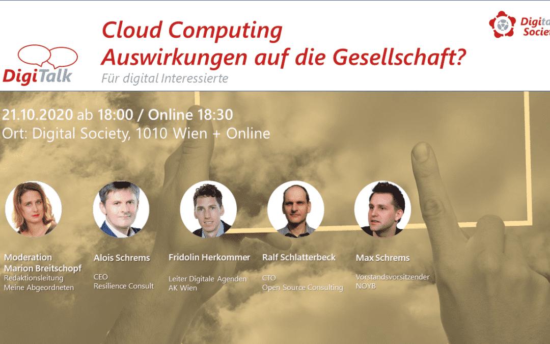 """Nachlese DigiTalk """"Cloud Computing – Auswirkungen auf die Gesellschaft?"""""""