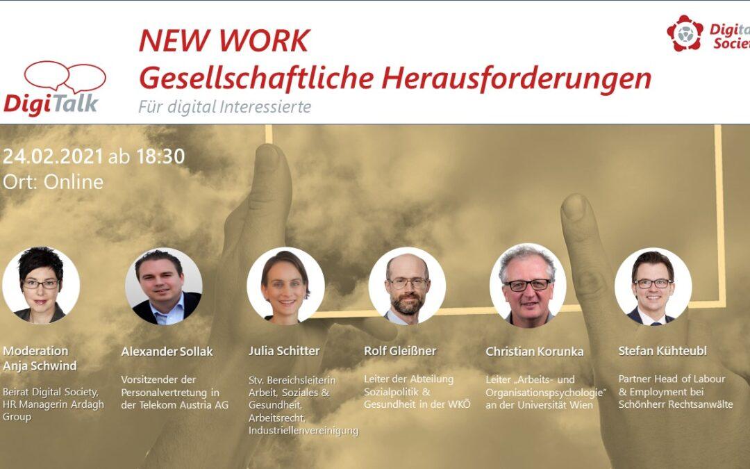 Nachlese: DigiTalk New Work 2 – Gesellschaftliche Herausforderungen (Diskussion)
