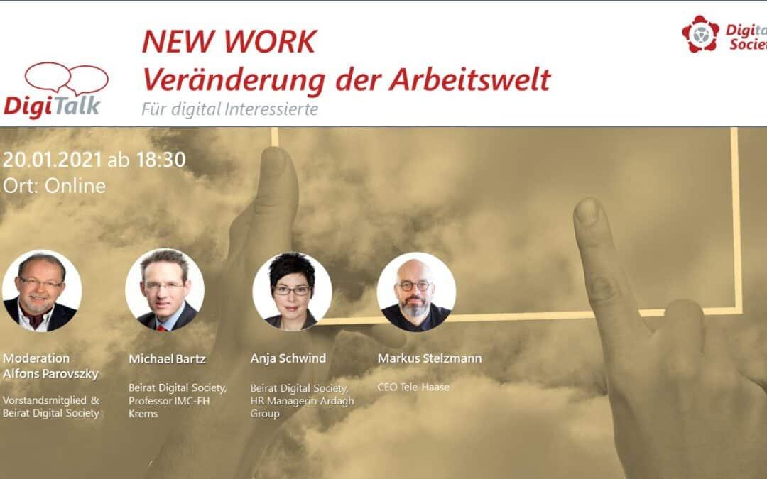 Nachlese DigiTalk NEW WORK 1 – Wie verändert die digitale Transformation unsere Arbeitswelt?