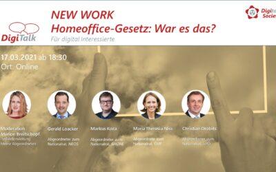 Nachlese: DigiTalk New Work 3 – Homeoffice – Gesetz: War es das?