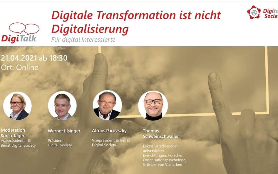 """NachleseDigiTalk""""Digitale Transformation ist nicht Digitalisierung"""""""