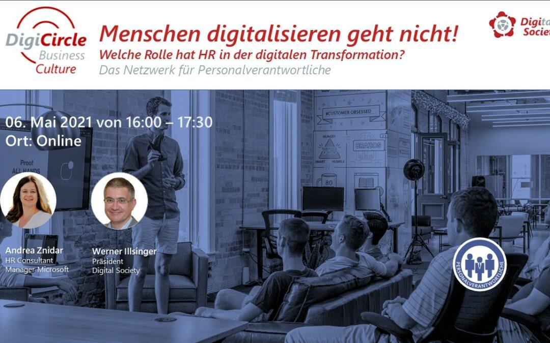 Nachlese DigiCircle Business Culture (05/2021)Menschen digitalisieren geht nicht!Andrea Znidar HR Microsoft Western Europe